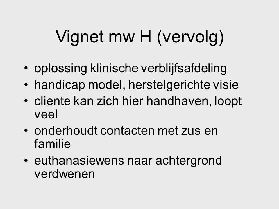 Vignet mw H (vervolg) oplossing klinische verblijfsafdeling