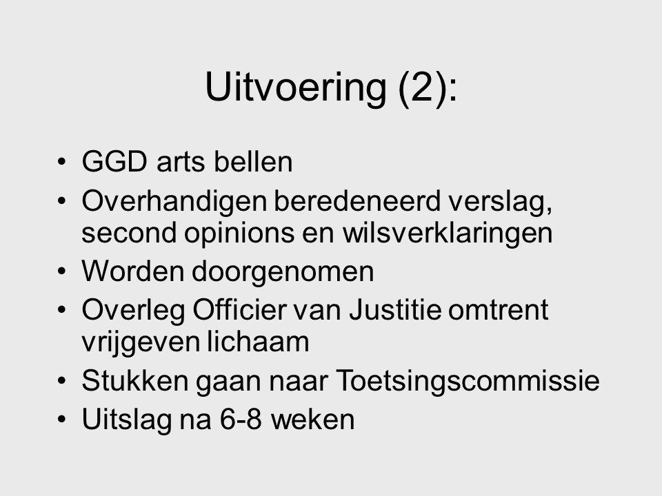 Uitvoering (2): GGD arts bellen