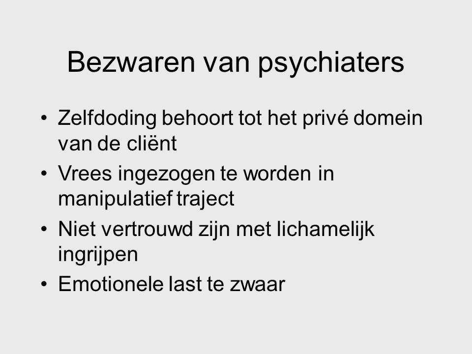 Bezwaren van psychiaters