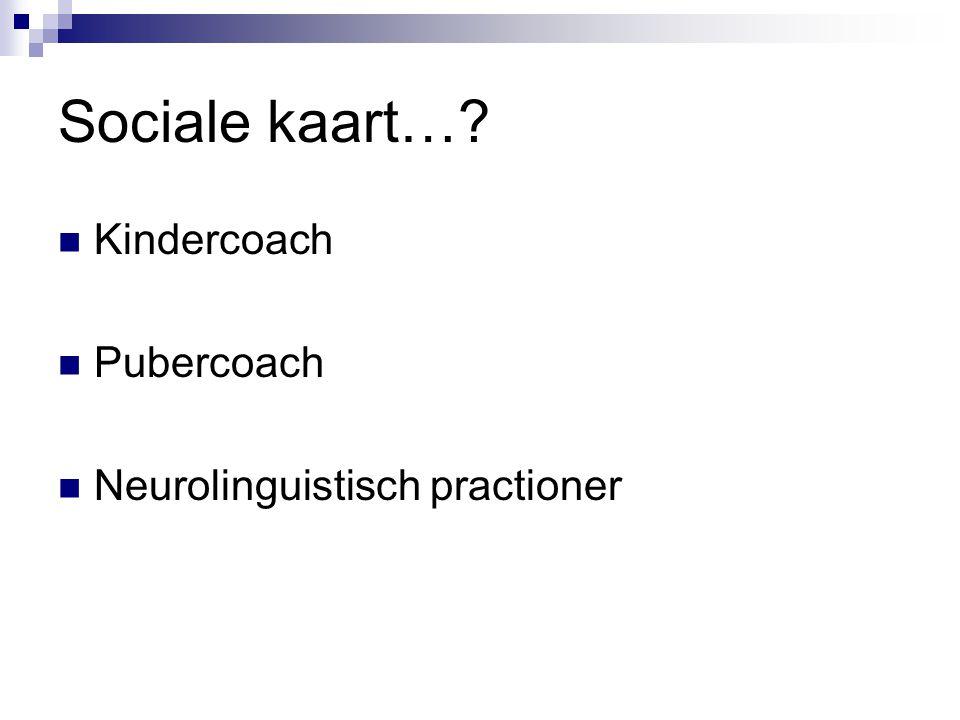 Sociale kaart… Kindercoach Pubercoach Neurolinguistisch practioner