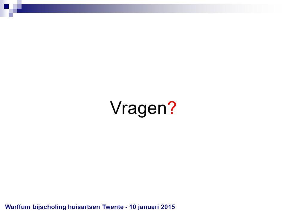 Vragen Warffum bijscholing huisartsen Twente - 8 april 2017