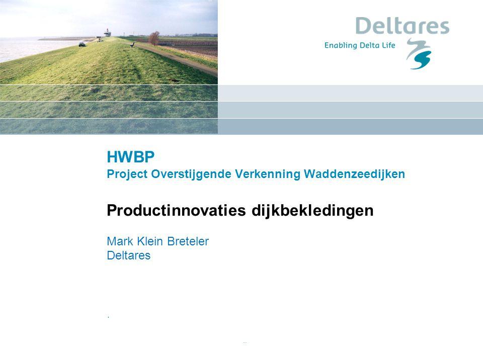 HWBP Project Overstijgende Verkenning Waddenzeedijken Productinnovaties dijkbekledingen