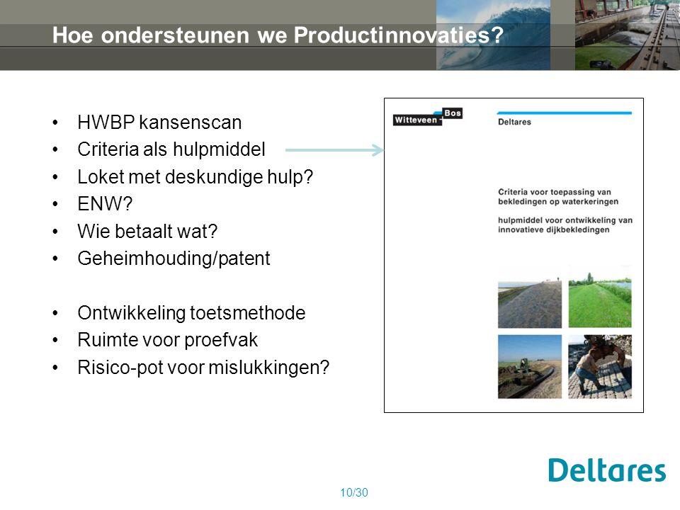 Hoe ondersteunen we Productinnovaties