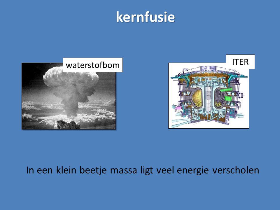 kernfusie In een klein beetje massa ligt veel energie verscholen ITER