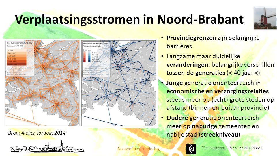 Verplaatsingsstromen in Noord-Brabant