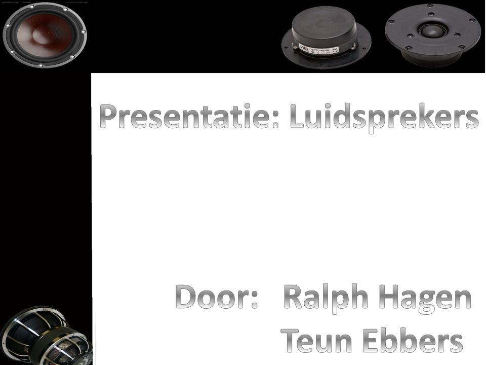 Presentatie: Luidsprekers