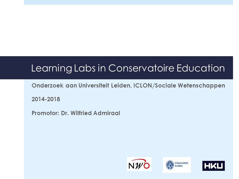 Learning Labs in Conservatoire Education