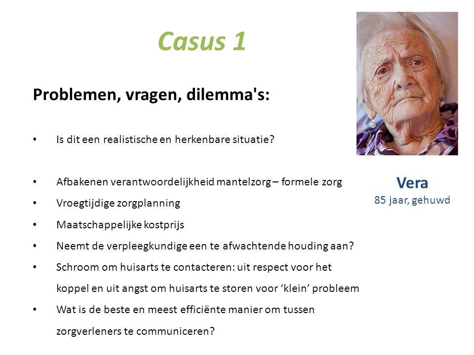 Casus 1 Problemen, vragen, dilemma s: Vera