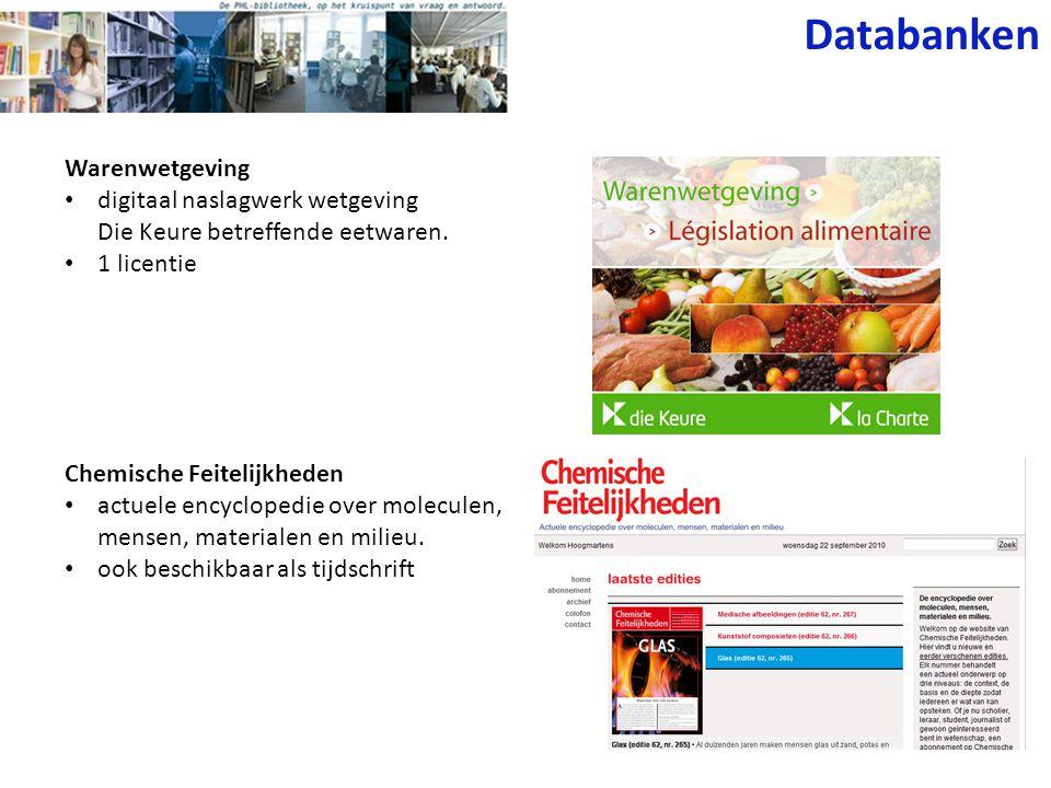 Databanken Warenwetgeving