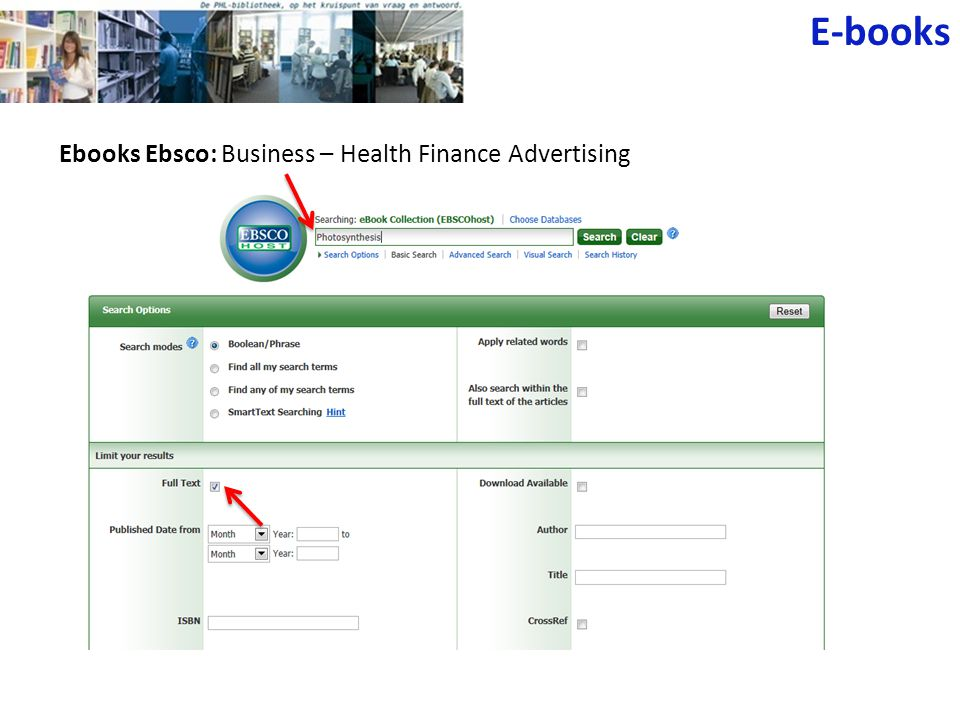 E-books Ebooks Ebsco: Business – Health Finance Advertising