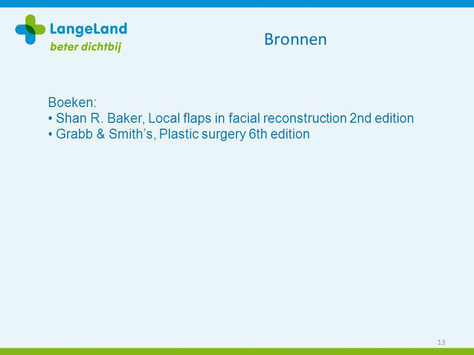 Bronnen Boeken: Shan R. Baker, Local flaps in facial reconstruction 2nd edition.