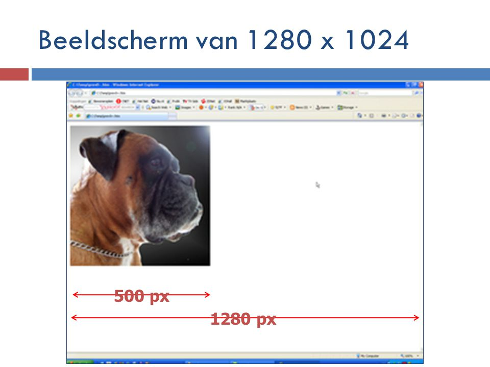 Beeldscherm van 1280 x 1024 500 px 1280 px