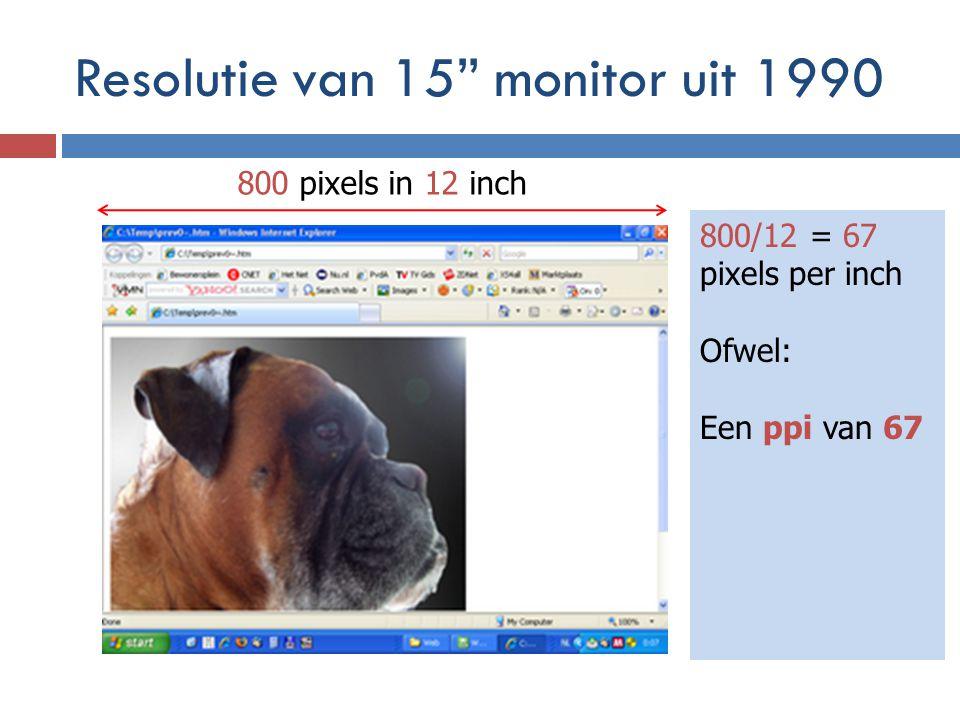 Resolutie van 15 monitor uit 1990