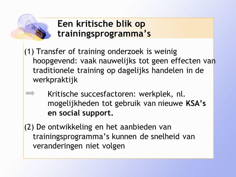 Een kritische blik op trainingsprogramma's