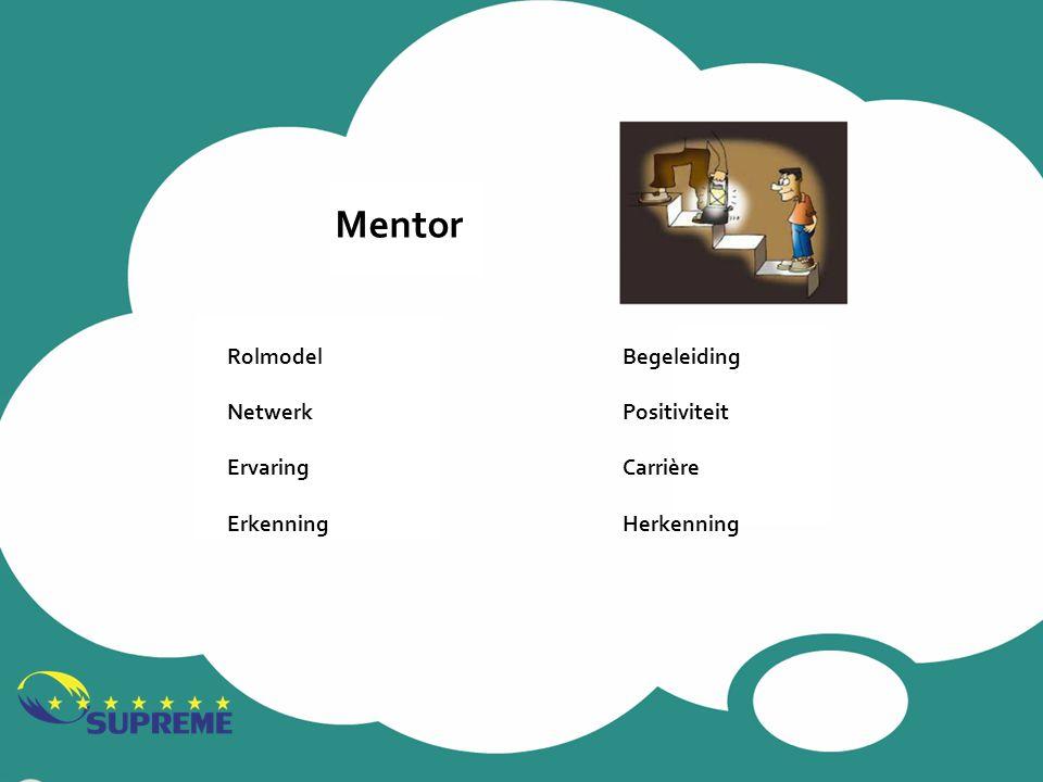 Mentor Rolmodel Netwerk Ervaring Erkenning Begeleiding Positiviteit