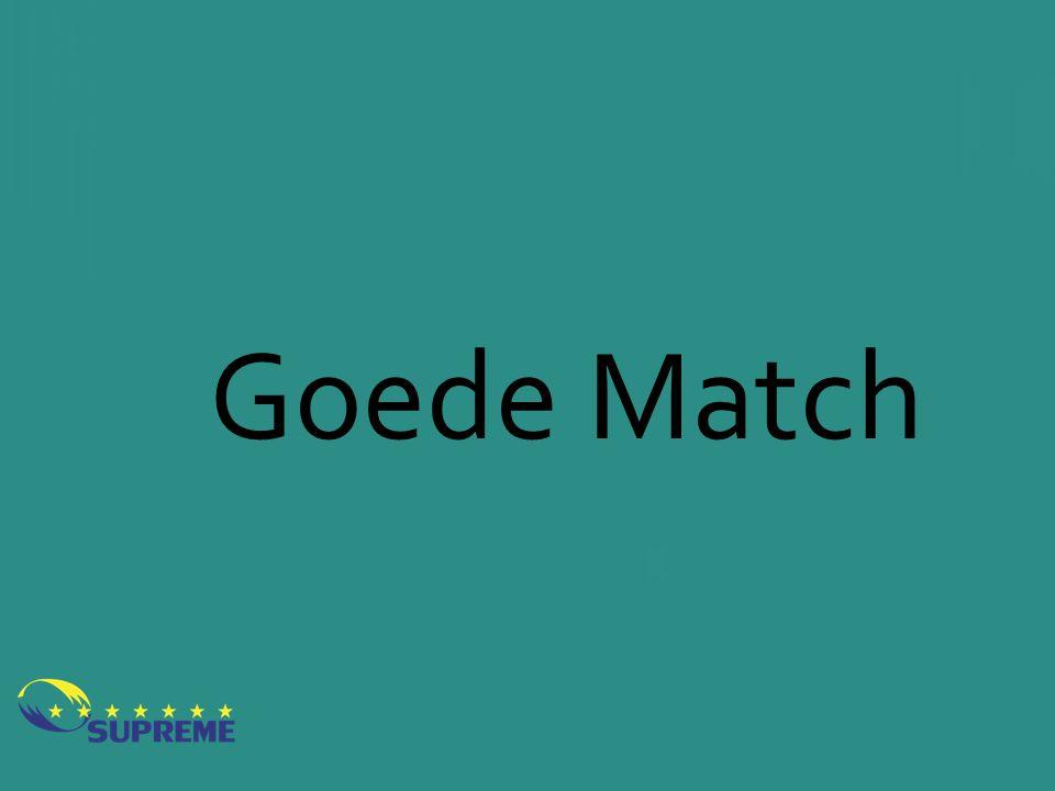 Goede Match Wat zorgt voor een goede match