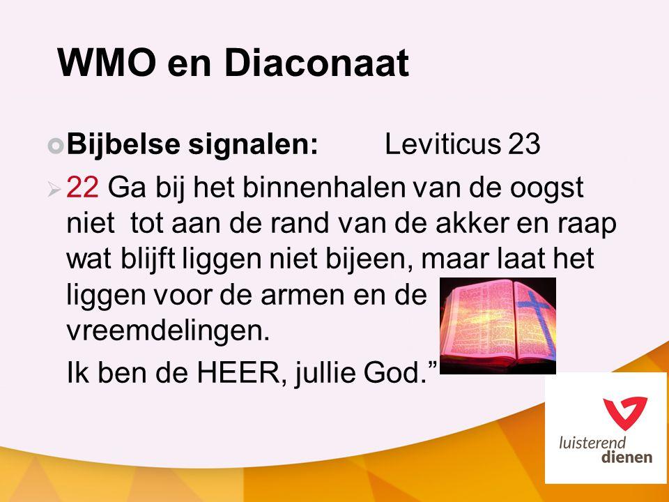 WMO en Diaconaat Bijbelse signalen: Leviticus 23