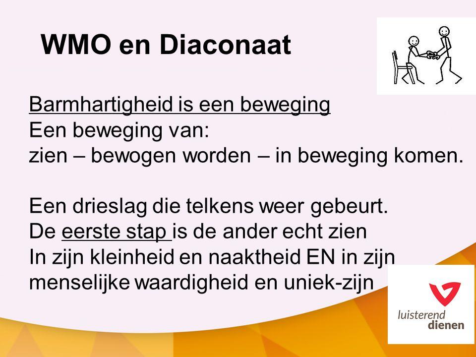 WMO en Diaconaat Barmhartigheid is een beweging Een beweging van: