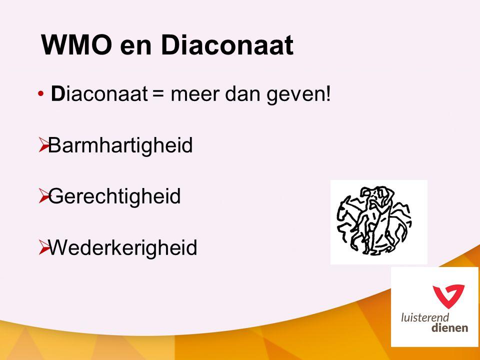WMO en Diaconaat Diaconaat = meer dan geven! Barmhartigheid