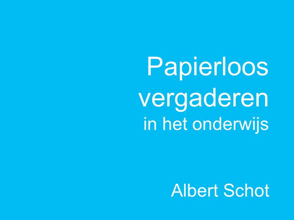 Papierloos vergaderen in het onderwijs