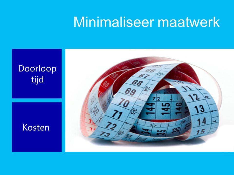 Minimaliseer maatwerk