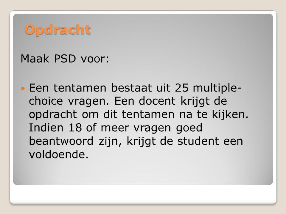 Opdracht Maak PSD voor: