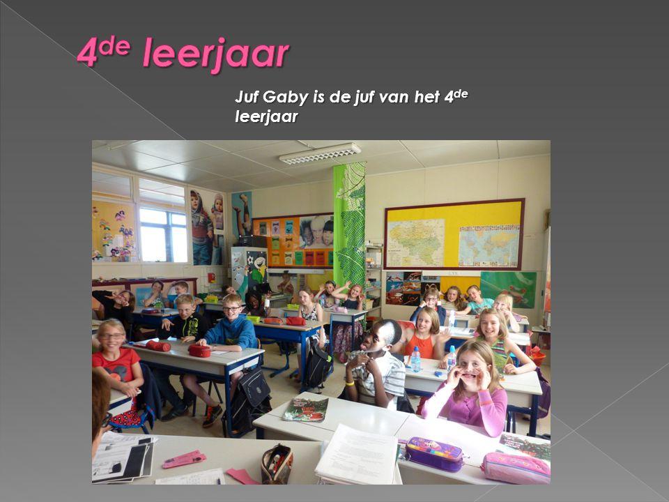 4de leerjaar Juf Gaby is de juf van het 4de leerjaar