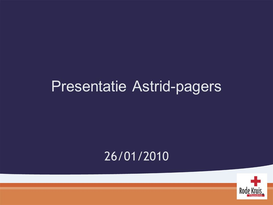 Presentatie Astrid-pagers