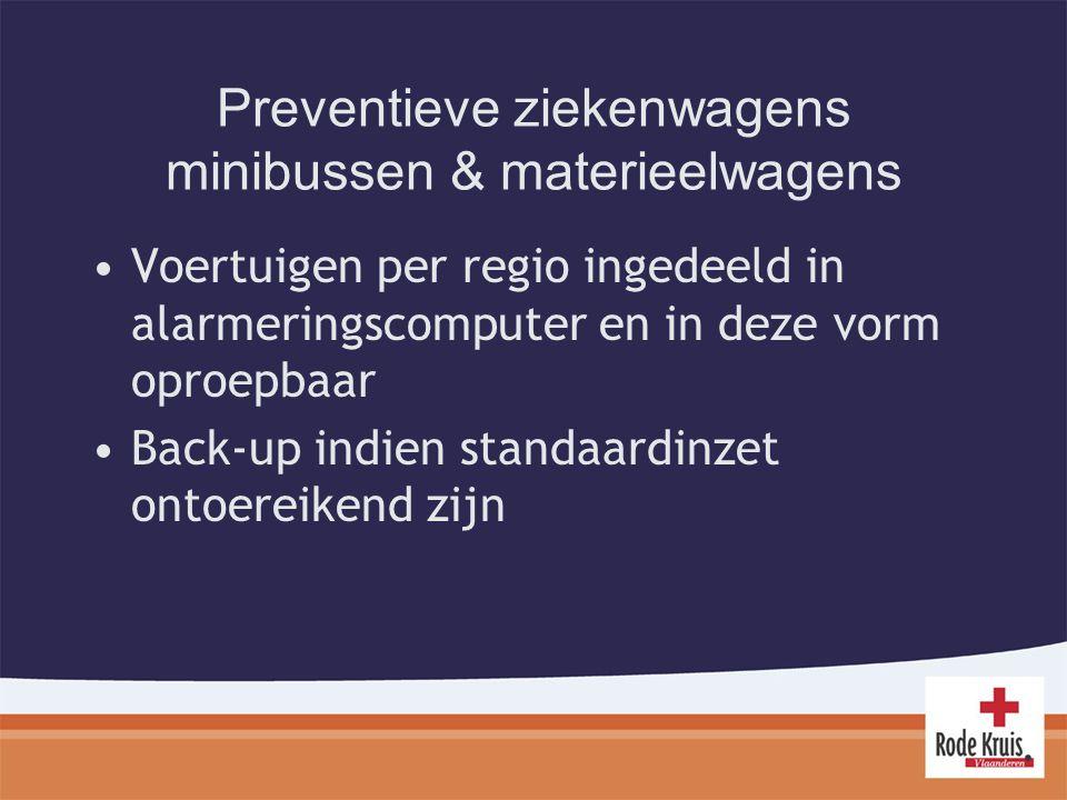 Preventieve ziekenwagens minibussen & materieelwagens