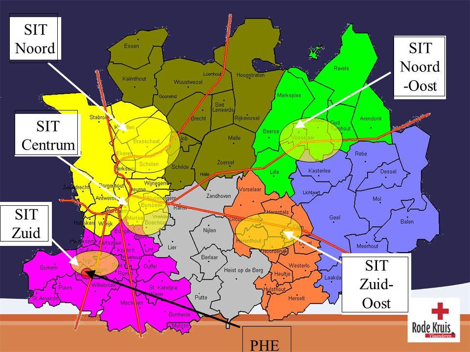 SIT Noord SIT Noord-Oost SIT Centrum SIT Zuid SIT Zuid-Oost PHE