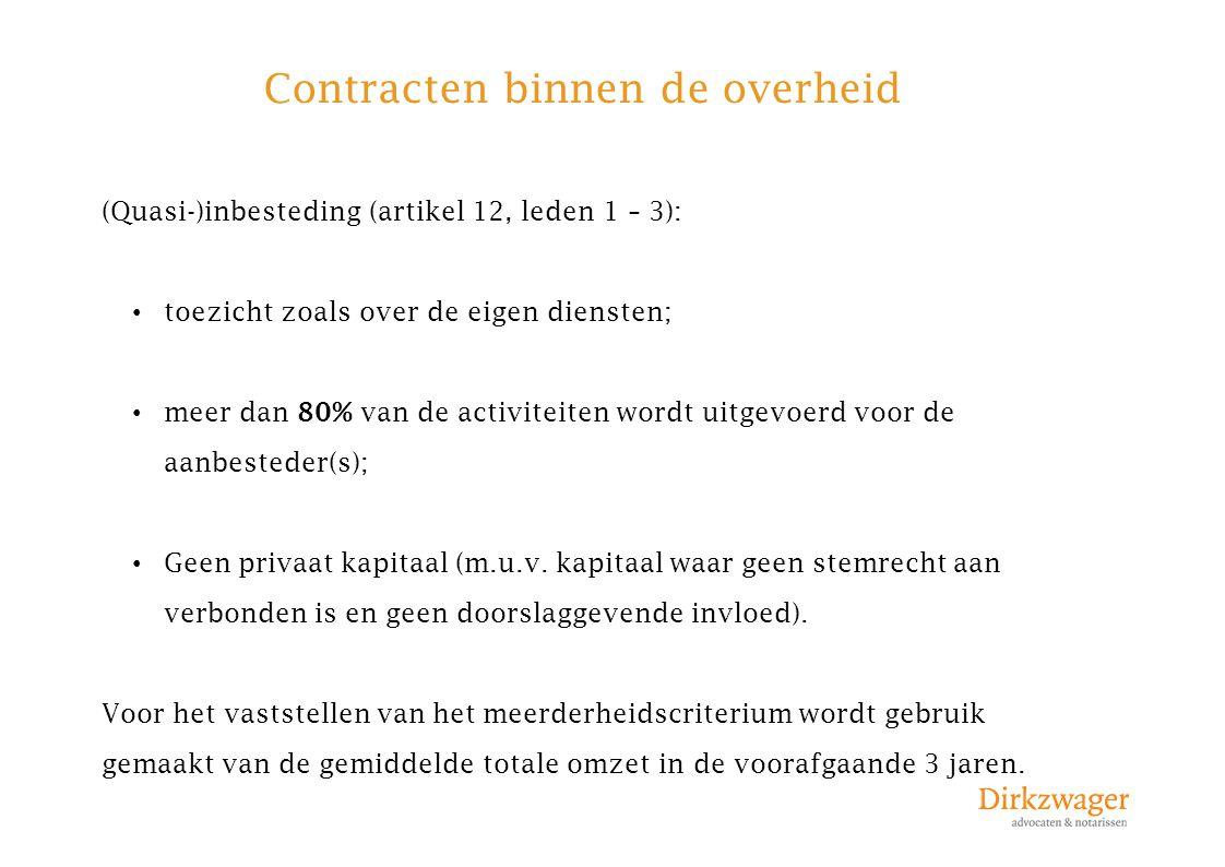 Contracten binnen de overheid