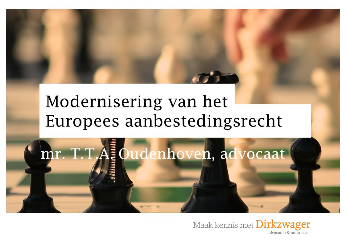 Modernisering van het Europees aanbestedingsrecht