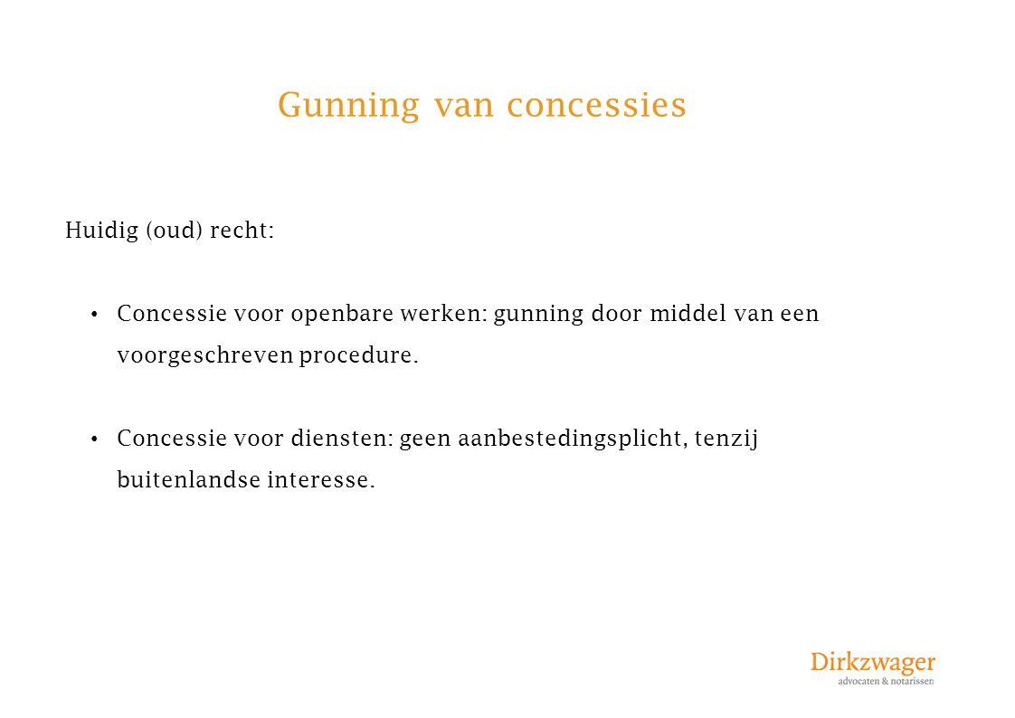 Gunning van concessies