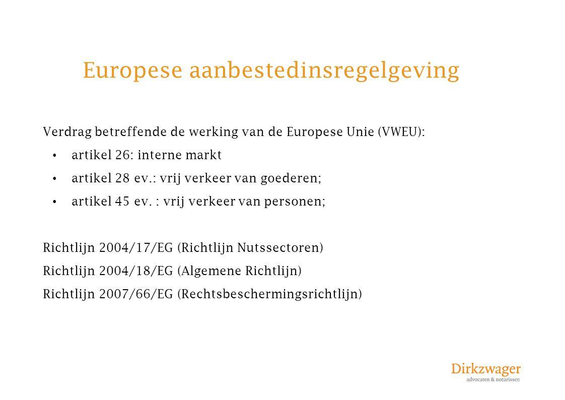 Europese aanbestedinsregelgeving