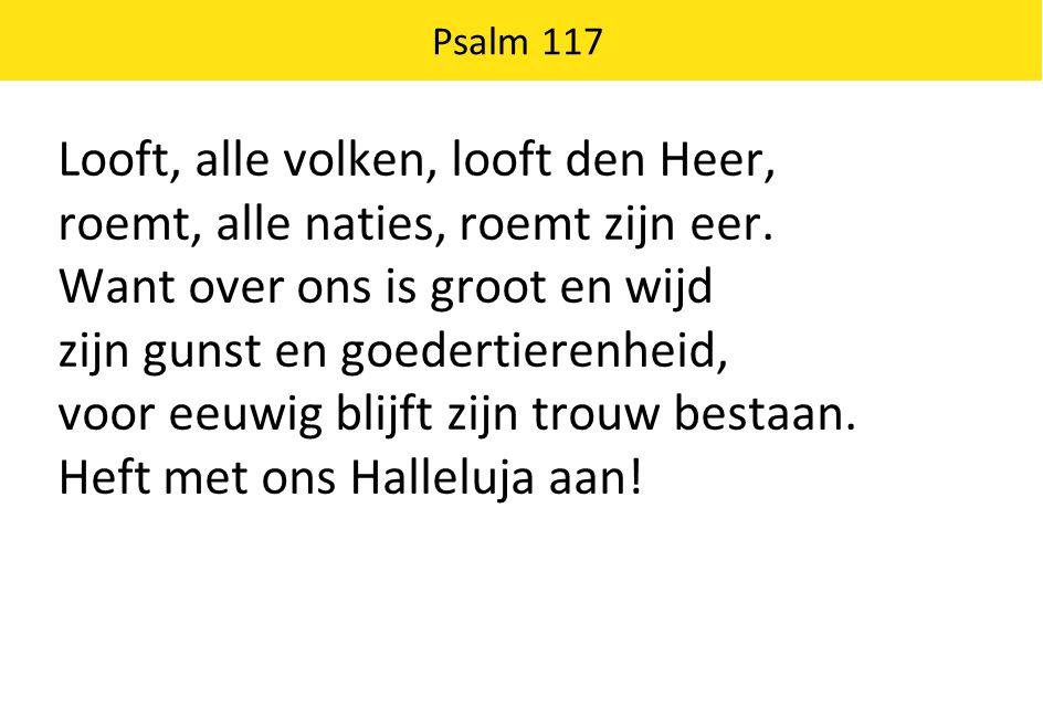 Looft, alle volken, looft den Heer,