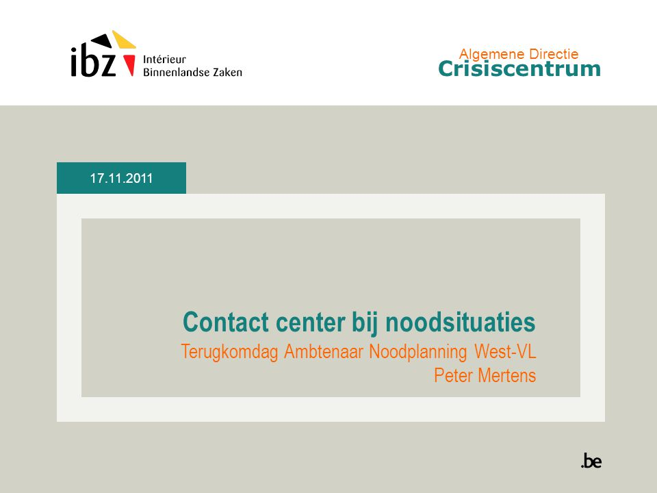 Contact center bij noodsituaties