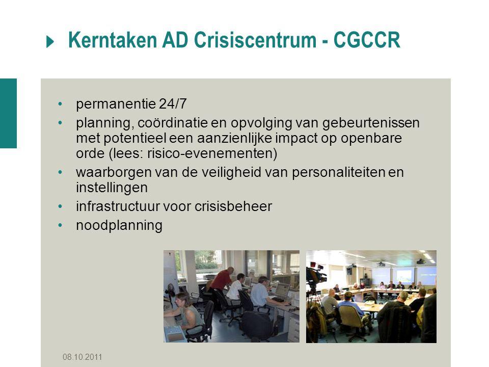Kerntaken AD Crisiscentrum - CGCCR