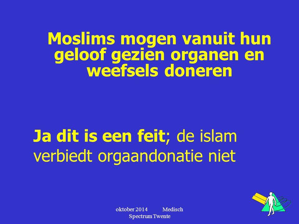 Moslims mogen vanuit hun geloof gezien organen en weefsels doneren