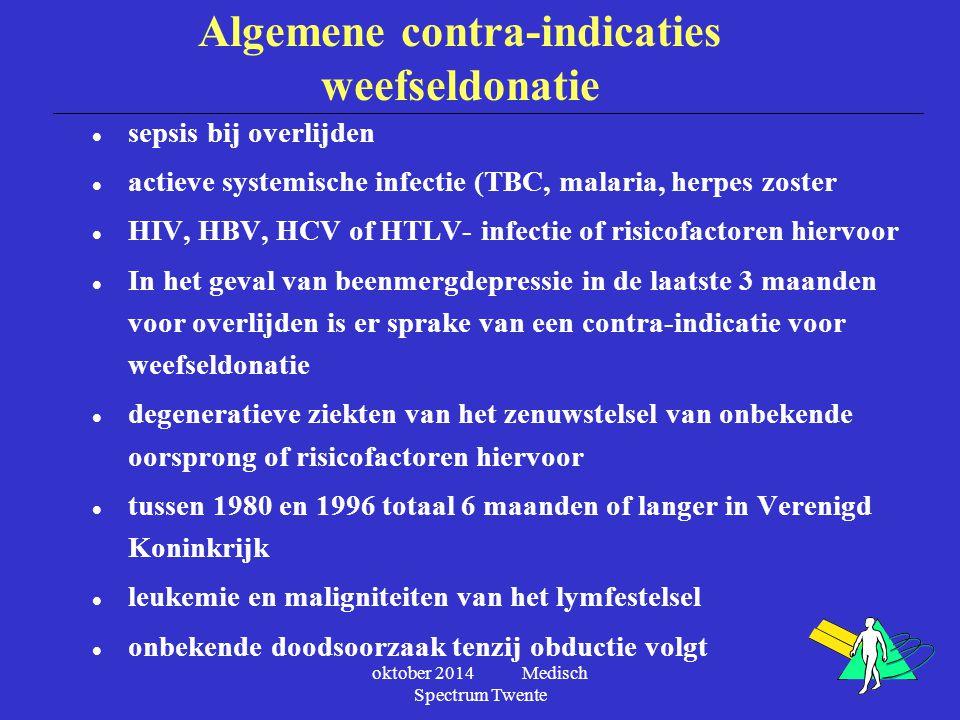 Algemene contra-indicaties weefseldonatie
