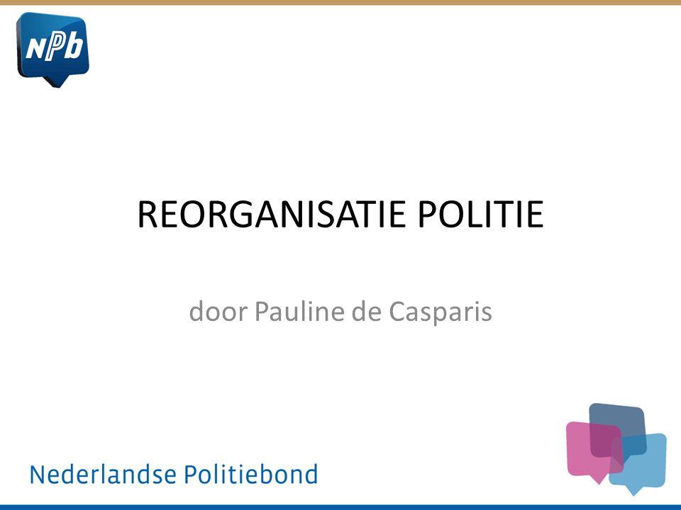 REORGANISATIE POLITIE