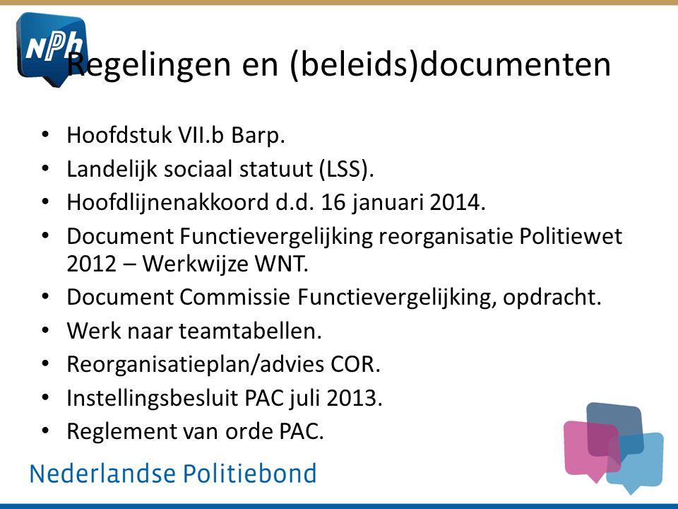 Regelingen en (beleids)documenten