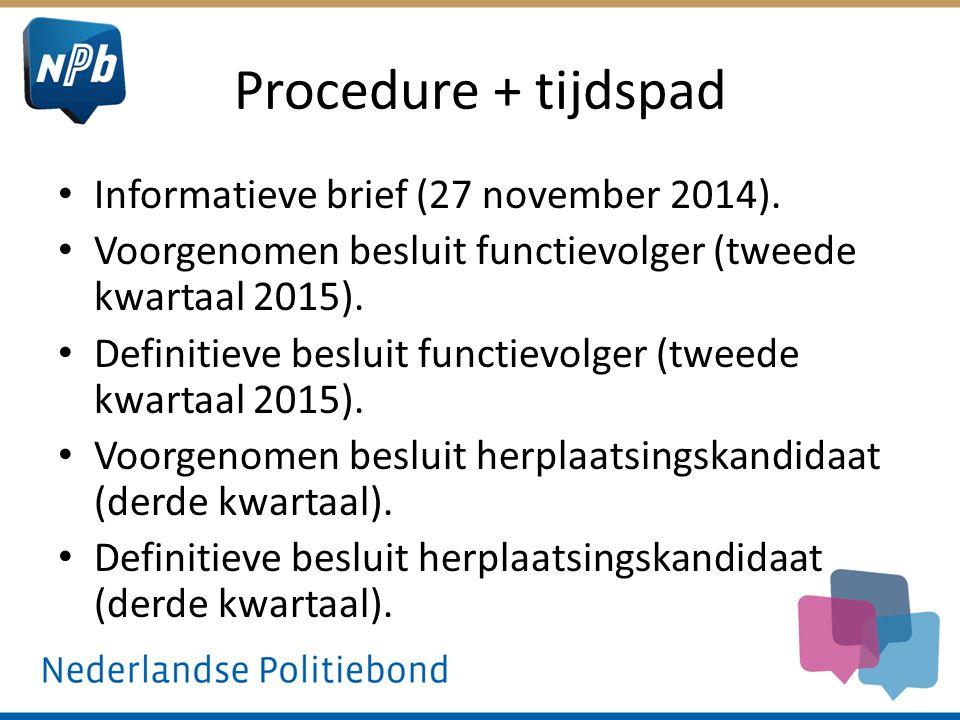 Procedure + tijdspad Informatieve brief (27 november 2014).