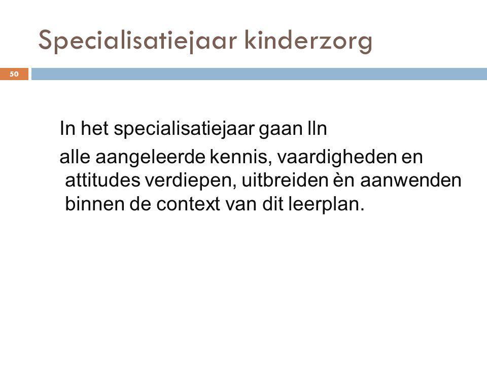 Specialisatiejaar kinderzorg