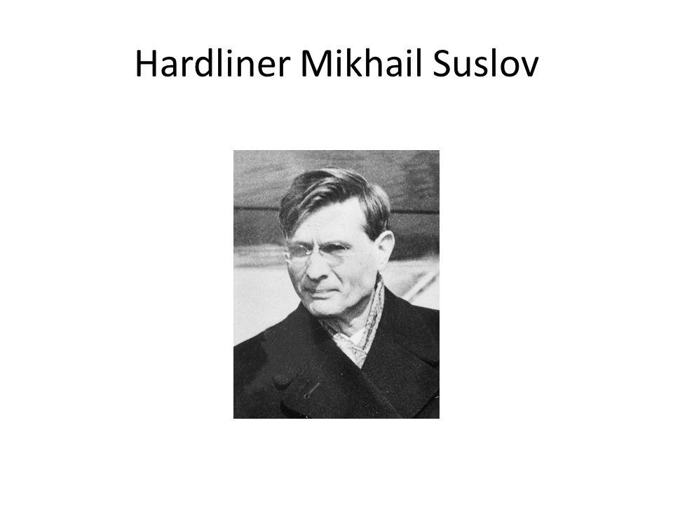 Hardliner Mikhail Suslov