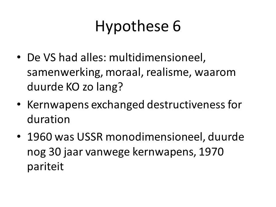 Hypothese 6 De VS had alles: multidimensioneel, samenwerking, moraal, realisme, waarom duurde KO zo lang