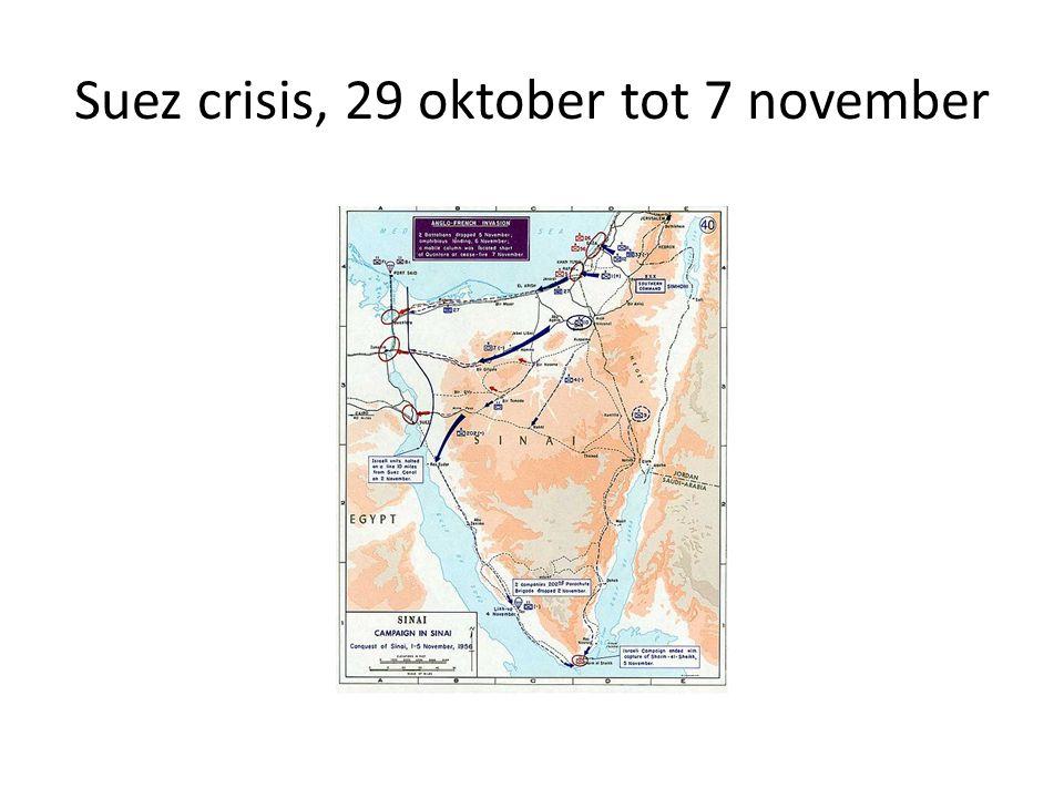 Suez crisis, 29 oktober tot 7 november