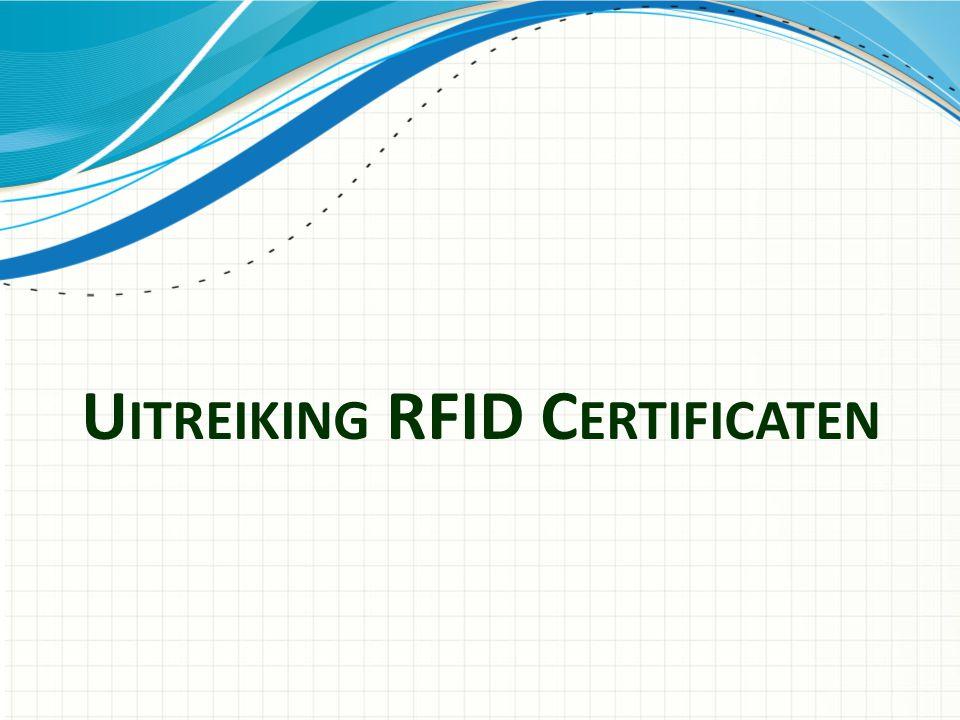 Uitreiking RFID Certificaten