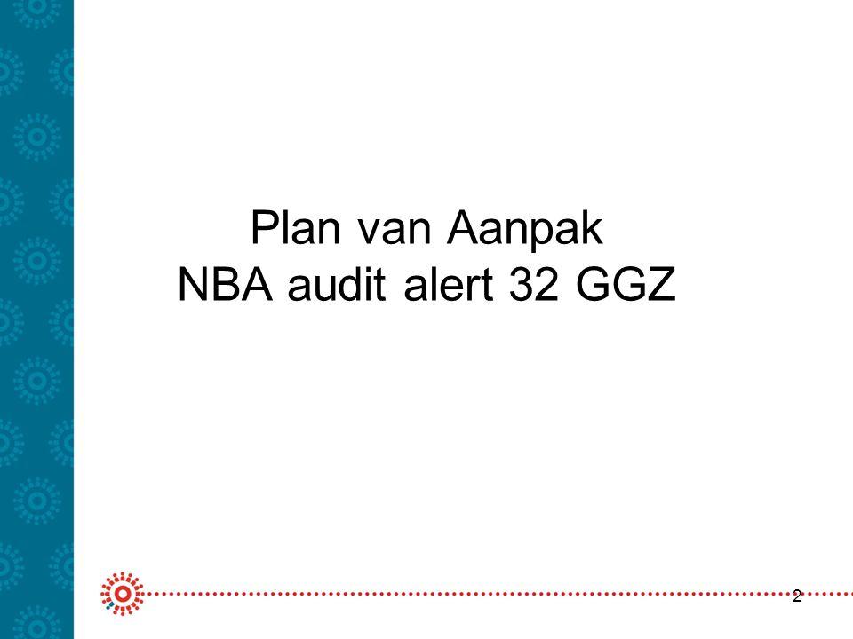 Plan van Aanpak NBA audit alert 32 GGZ
