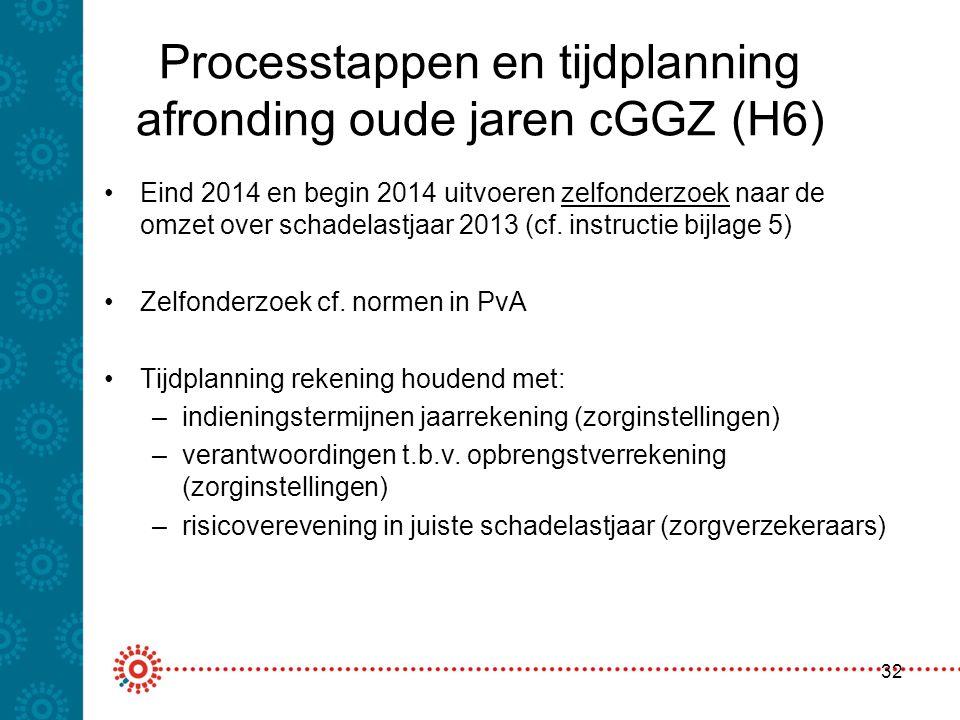Processtappen en tijdplanning afronding oude jaren cGGZ (H6)