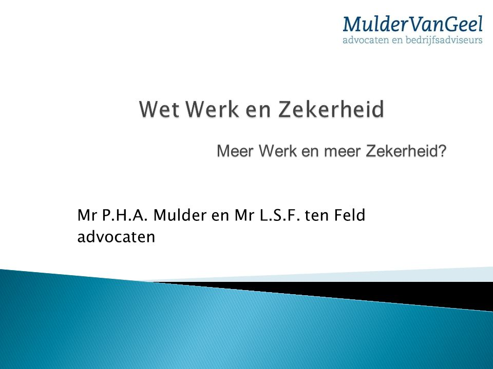 Mr P.H.A. Mulder en Mr L.S.F. ten Feld advocaten